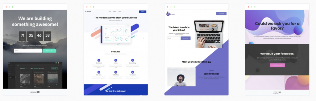 mailerlite landing pages