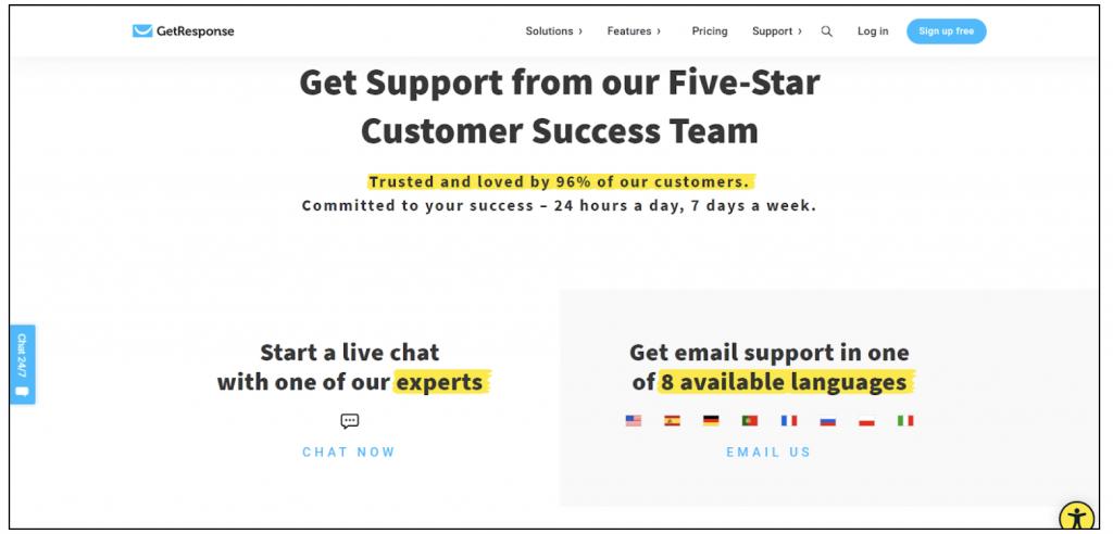 getresponse support