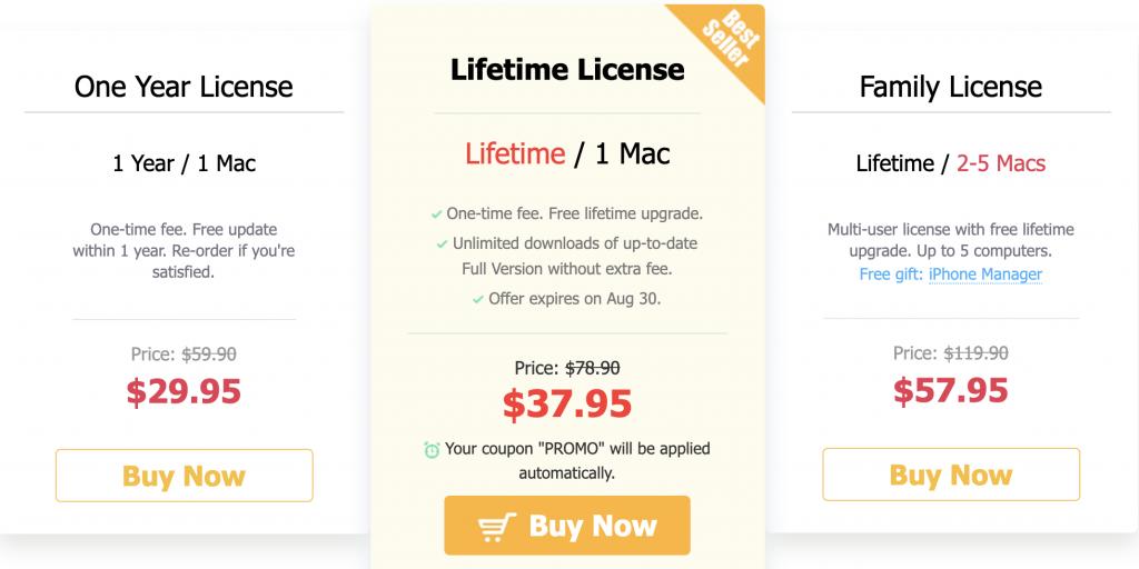 videoproc pricing