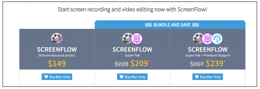 screenflow pricing